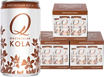 Q Drinks, Q Kola, Spectacular Kola, Premium Mixer, 7.5 Ounce Slim Can (Pack of 12)