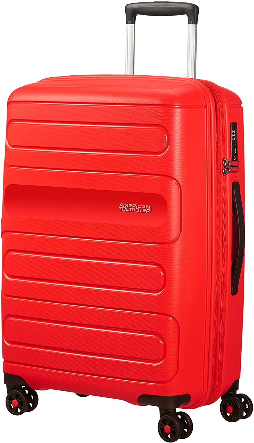 American Tourister Sunside Spinner 68 Expandible, 3.7 kg, 72.5/83.5 l, Rojo (Sunset Red)