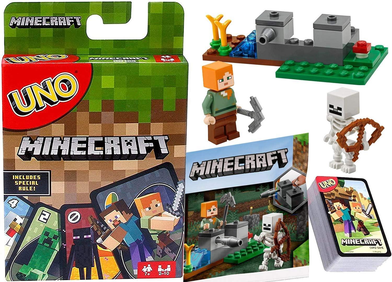 Blocks A Go! Uno Juego de cartas regla especial con personajes creeper y Steve Set de 2 piezas: Amazon.es: Juguetes y juegos