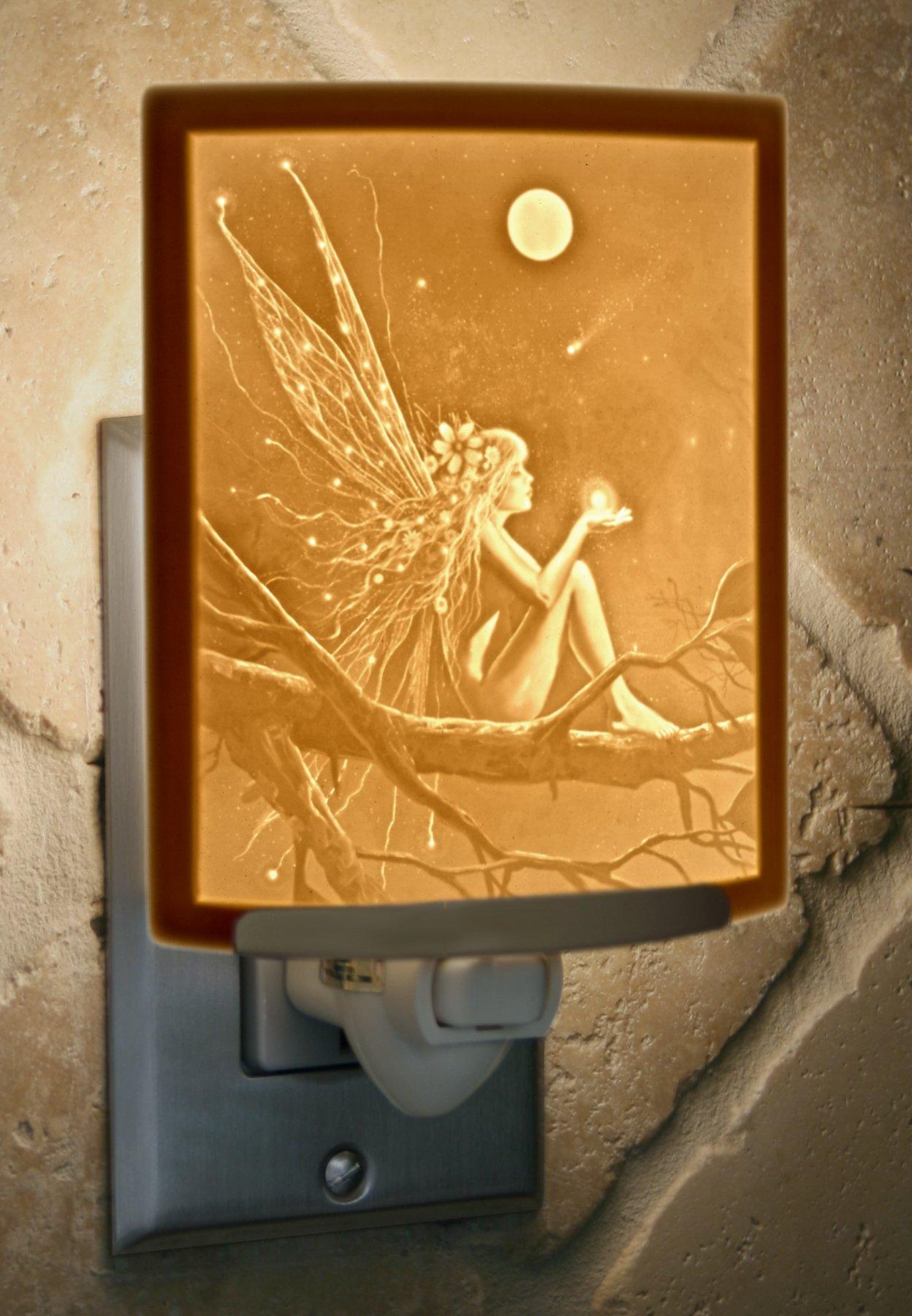 Catch a Falling Star by David Delamare Porcelain Lithophane Night Light by The Porcelain Garden (Image #2)