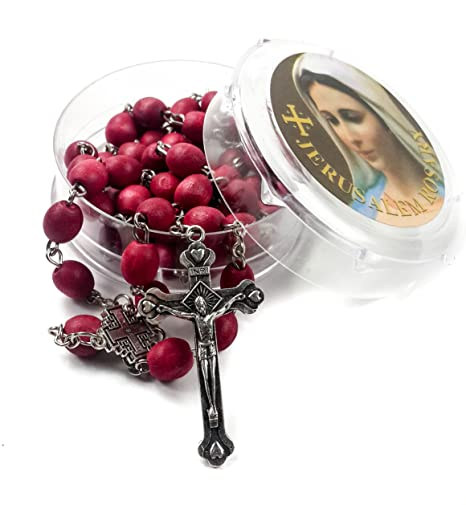 Amazon com: Rose smell Rosary Petal Red Rare Carved Beads