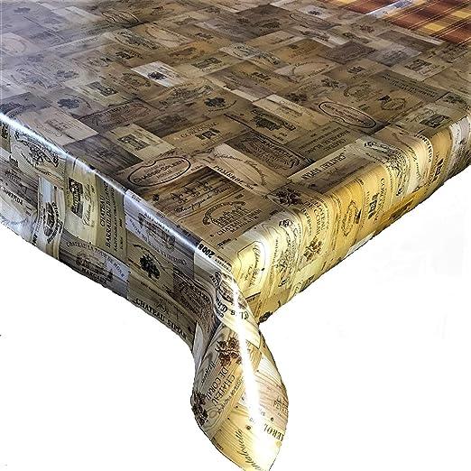 Mantel de vinilo PVC con efecto de madera de 2 metros (200 x 137 ...