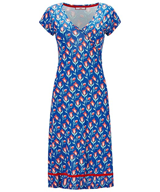 Joe Browns Mujer Manga Japonesa Jersey Vestido Estampado Floral - Azul Multicolor, 10