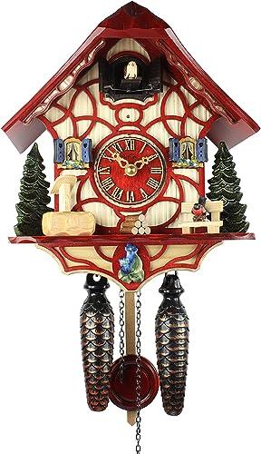 HerrZeit by Adolf Herr Adolf Herr Quartz Cuckoo Clock – Magic Red