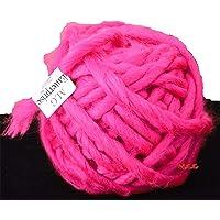 M.G Enterprise Knitting Yarn Thick Chunky Roving Jumbo Wool, Melon 100 gm Best Used with Knitting Needles, Crochet Needles Roving Jumbo Wool Yarn for Knitting. by M.G Enterprise