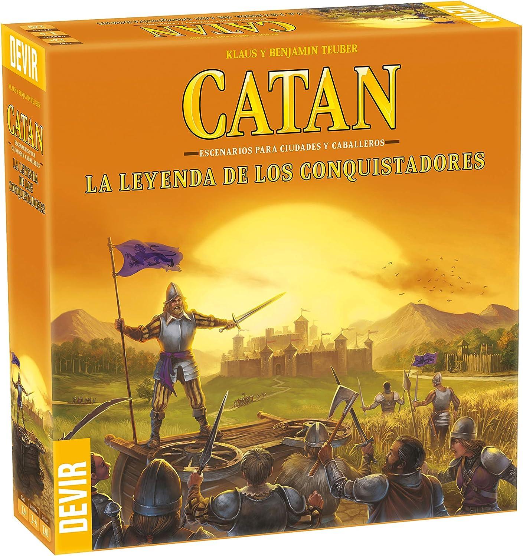 Devir-Catan La Leyenda de Los Conquistadores (BGCATLEY): Amazon.es: Juguetes y juegos