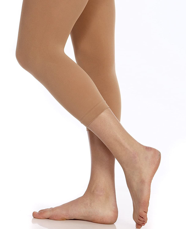 DanSkin Girls Ultrasoft Microfiber Footless Tights 712 Light Toast Medium Large 712-A-Light Toast-M/L (8-14)
