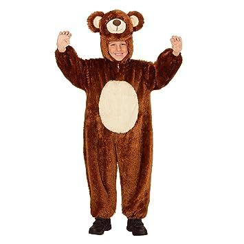 WIDMANN 98097 – Disfraz para niños oso de peluche, Mono con capucha y máscara