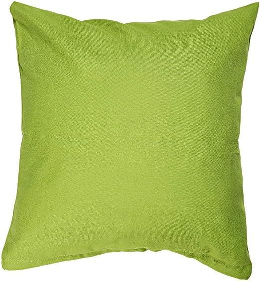 Uni – Funda de cojín, diseño liso, lona, algodón, Limetten Grün ...