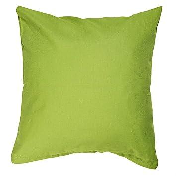 Hans Textil Shop Kissenbezug 30x30 Cm Uni Limetten Grün Baumwolle Canvas