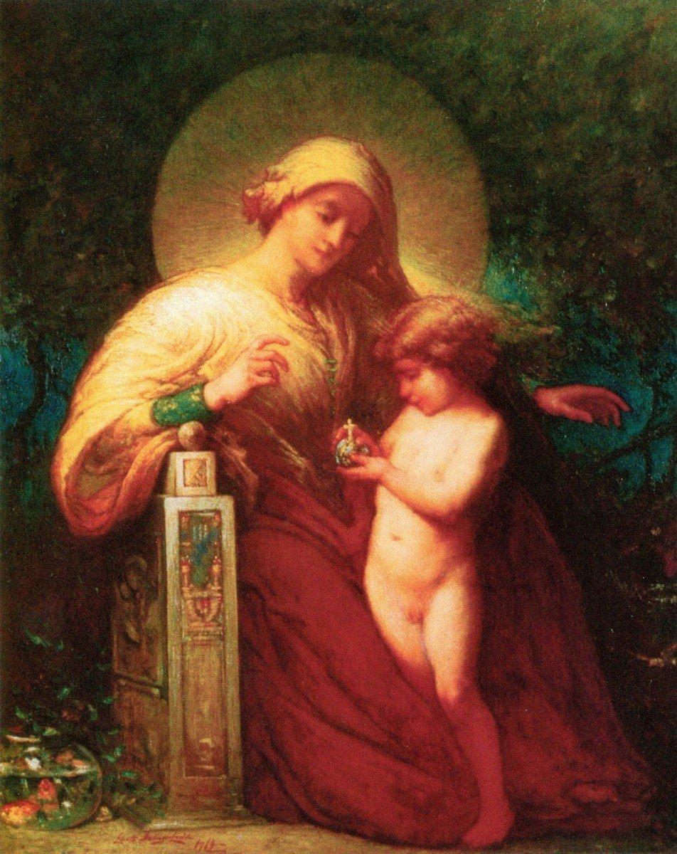 Madonna and Child – by Elliott Daingerfield – Unframed 16