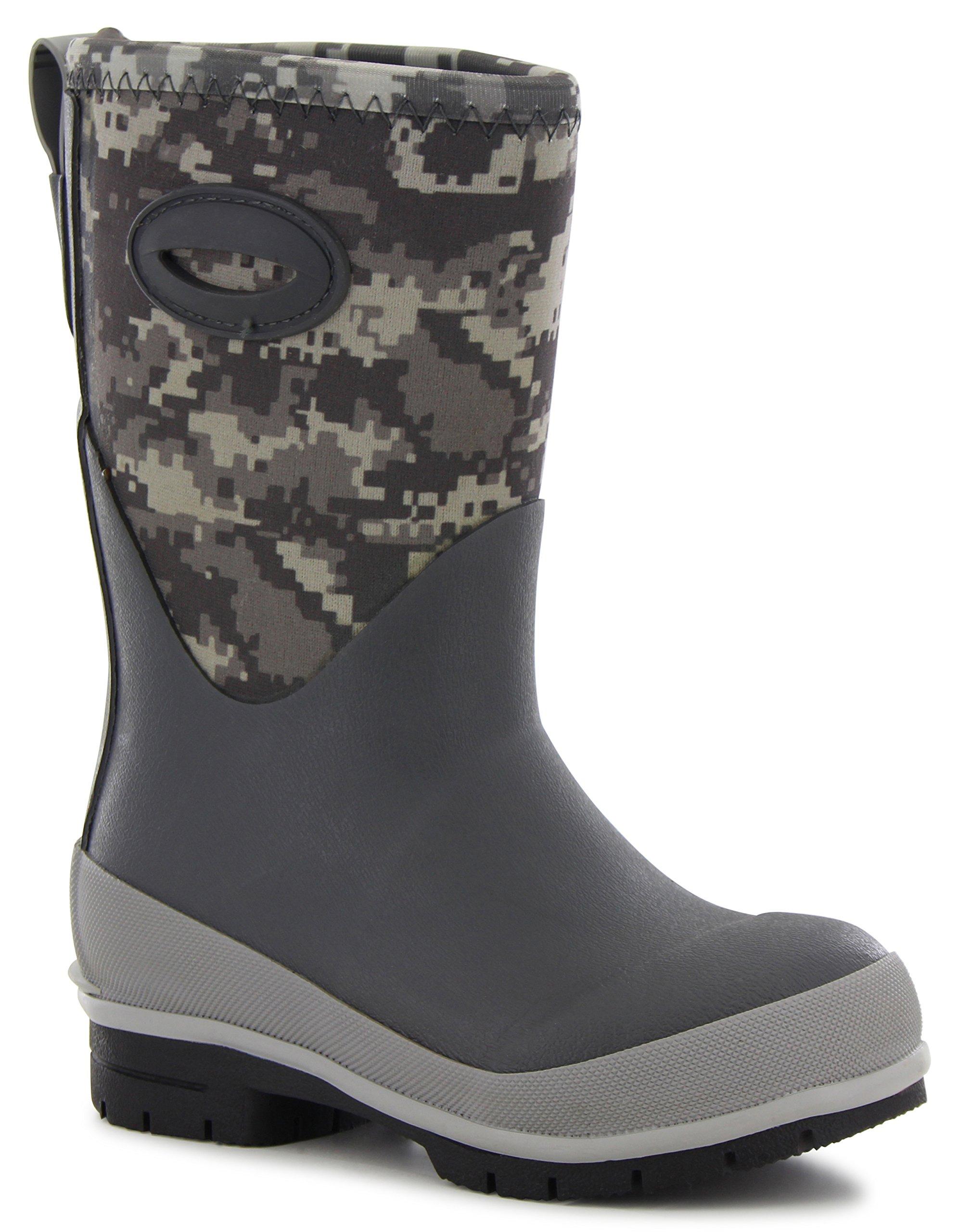 Western Chief Kids Digi Camo Neoprene Boot Charcoal 12