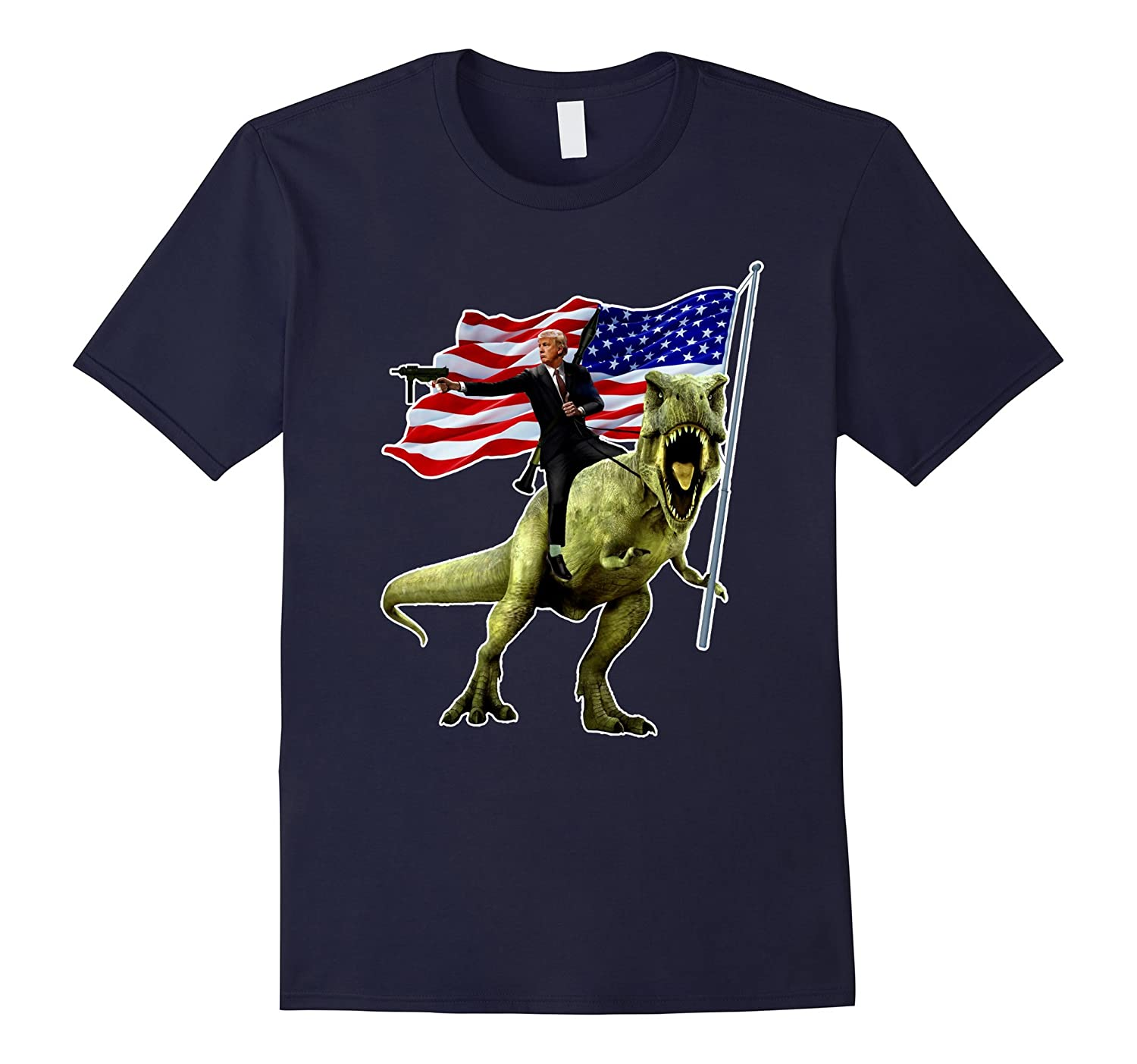 Epic Trump Riding Dinosaur Shirt-CD