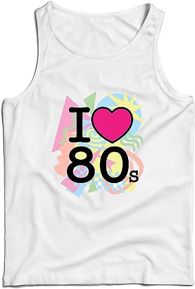 lepni.me Camisetas de Tirantes para Hombre Me encantan los 80, Ropa de la Banda de la Vieja Escuela, Rock and Roll: Amazon.es: Ropa y accesorios