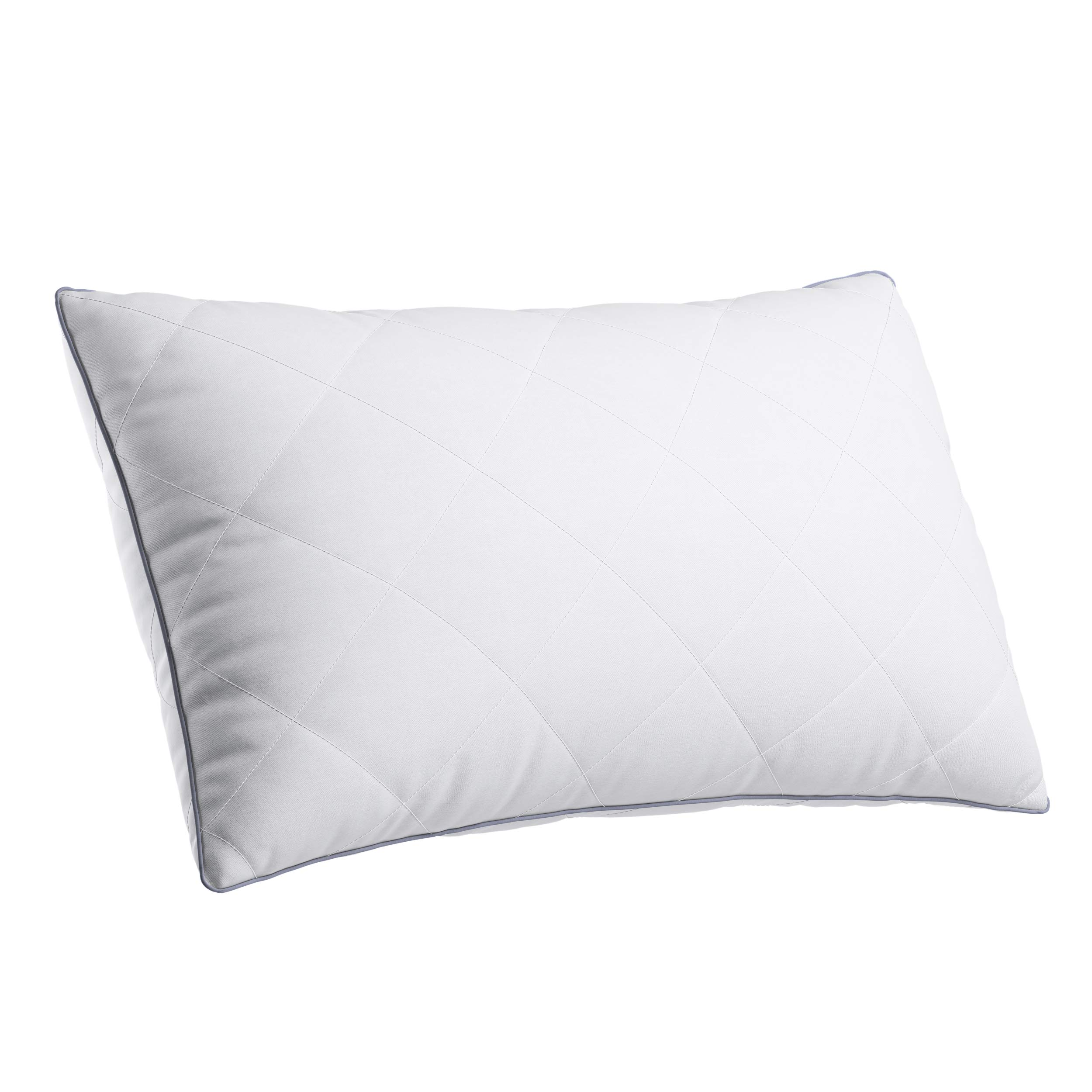 LANGRIA Luxury Adjustable Bed Pillows - Down Alternative Sleeping Pillow Comfortable for Home + Hotel Collection for Side Back Stomach Sleeper with 100% Cotton Cover Odor-Free Washable - Queen Size