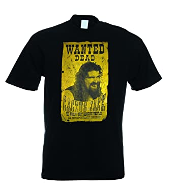 b988a4e394e926 RoyalTeesUK Mens T Shirt Cactus Jack Wanted Black  Amazon.co.uk  Clothing