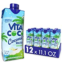 Vita Coco Coconut Water, Pure Organic | Refreshing Coconut Taste | Natural Electrolytes | Vital Nutrients | 11.1 Oz (Pack Of 12)