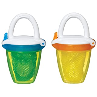 Munchkin Deluxe Fresh Food Feeder, Yellow/Green, 2 Count