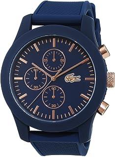 Lacoste 2010729 Men s Austin Blue Dial Black Leather Strap ... b56c3b28b2d