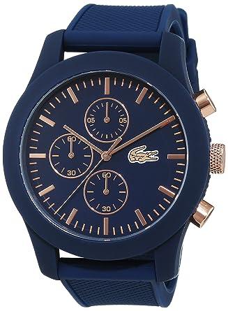 d0b35e5d6a Lacoste Homme Chronographe Quartz Montres bracelet avec bracelet en  Silicone - 2010827