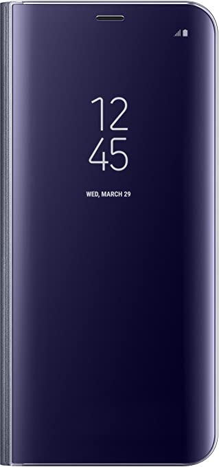 51 opinioni per Samsung Mobile EF-ZG955CVEGWW Galaxy S8+ Clear View Standing Cover, Viola