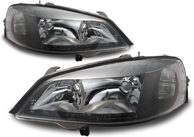 98-04 Opel Astra G Clignotant et correcteur de port/ée Lumineuse Inclus Face Lisse//Fond Noir JOM 82960 Phares Avant