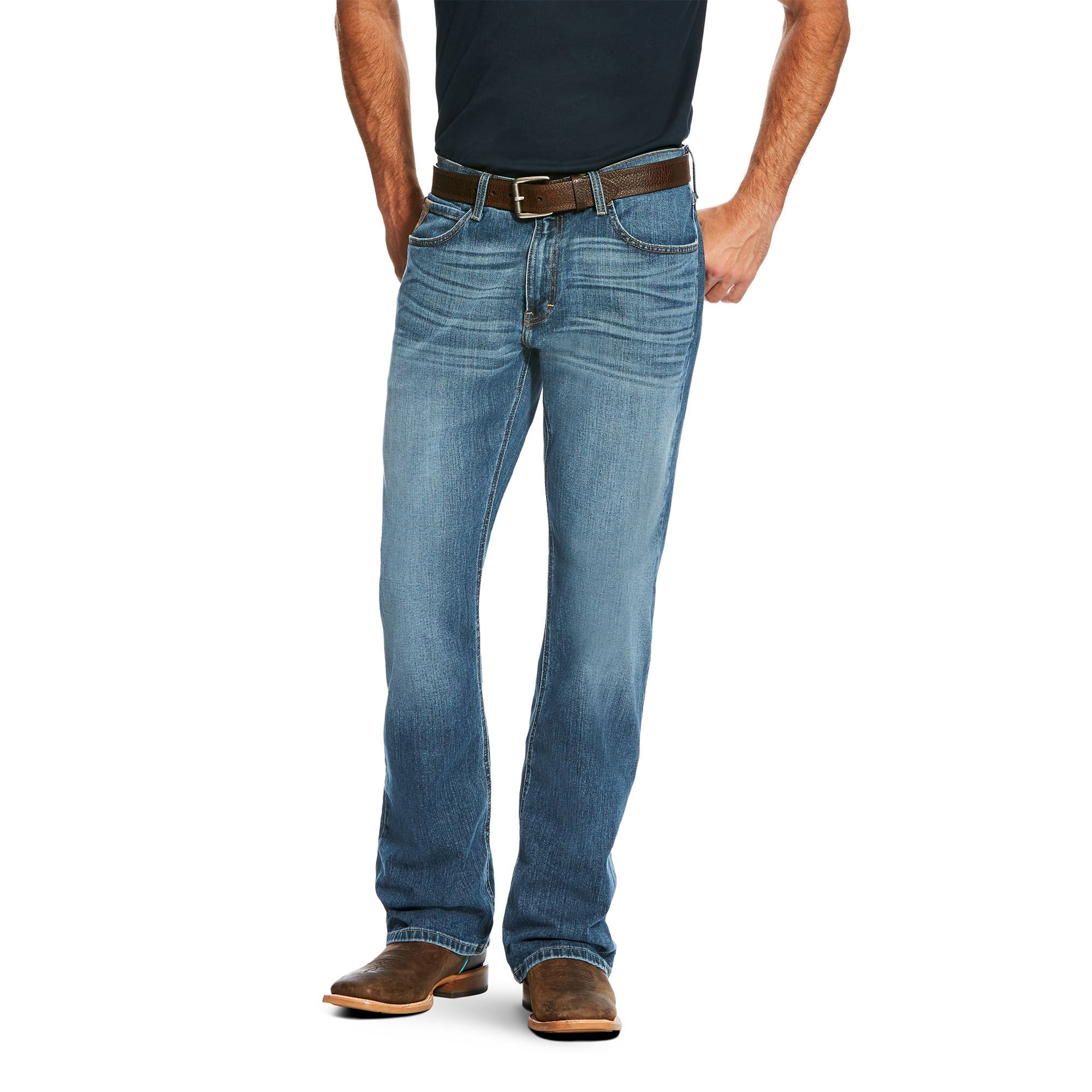 Ariat Men's M7 Stretch Extra Slim Fit Rocker Boot Cut Jean, Stretch Drifter, 28x32