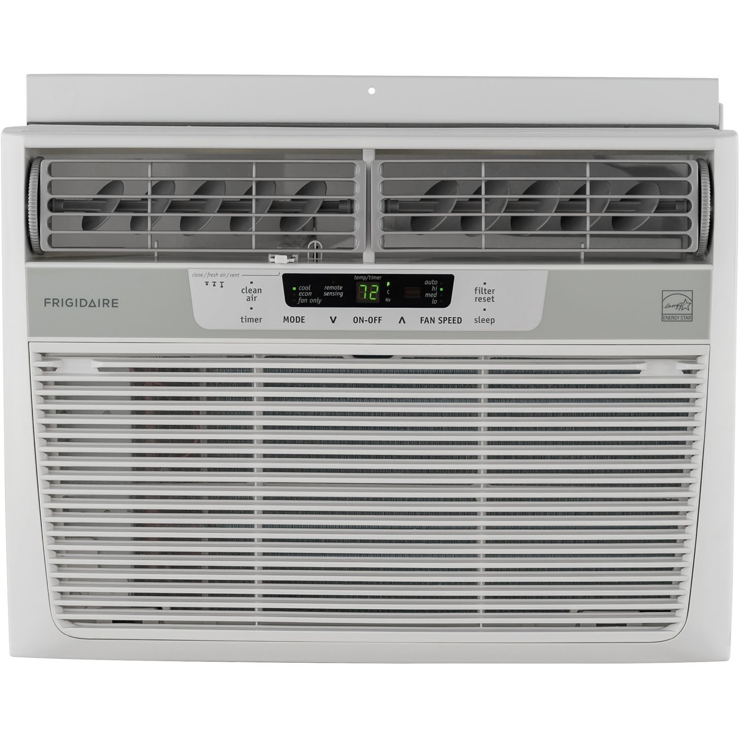 Frigidaire 12,000 BTU 115V Window-Mounted Compact Air Conditioner with Temperature Sensing Remote Control FFRE1233Q1
