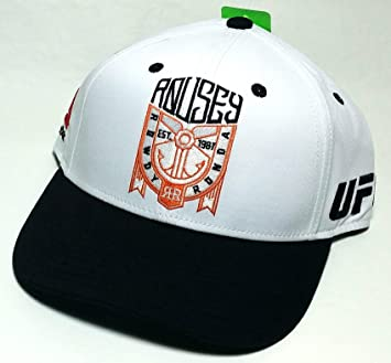 UFC Reebok RBK MMA Ronda Rowdy Rousey RR USA White Black Snapback Hat Cap   Amazon.co.uk  Sports   Outdoors 4214c8e64c9e