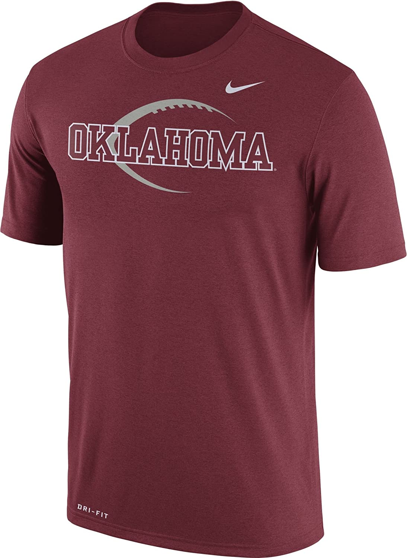 Nike Men 's Oklahoma Sooners Crimson FootballアイコンLegend Tシャツ(L) B0795FJRPF