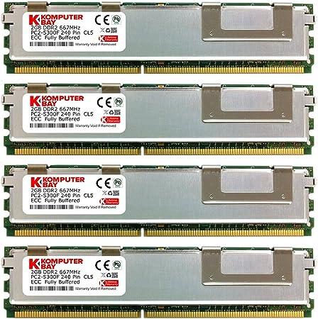 PC2-5300F 2r x 4 DDR2 Fully Buffered 667mhz memory w 90 days WRTY 16@4GB 64GB