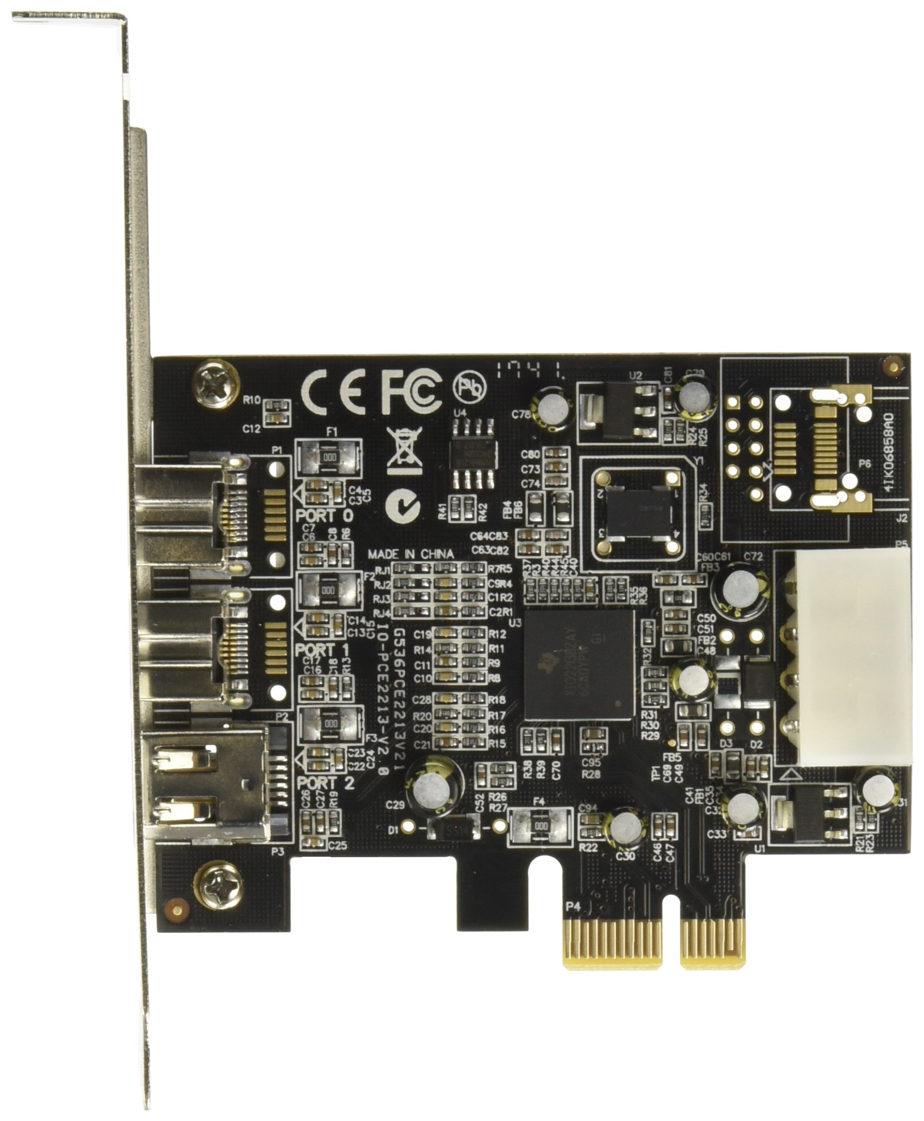Syba SY-PEX30016 3 Port Firewire 1394B & 1394A PCIe 1.1 x1 Card TI XIO2213B Chipset by Syba (Image #1)