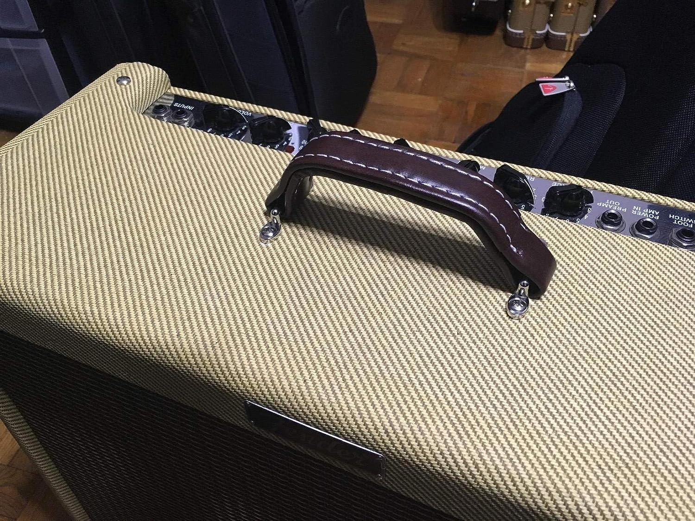 KAISH Blue Vintage Style Guitar AMP Amplifier Vinyl Leather Handle for Fender Ampeg AMPS