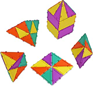 product image for Geometiles 3D Building Set for Learning Math, Includes Many Online Activities,32-pc, Made in USA (Triangle/Rectangle)
