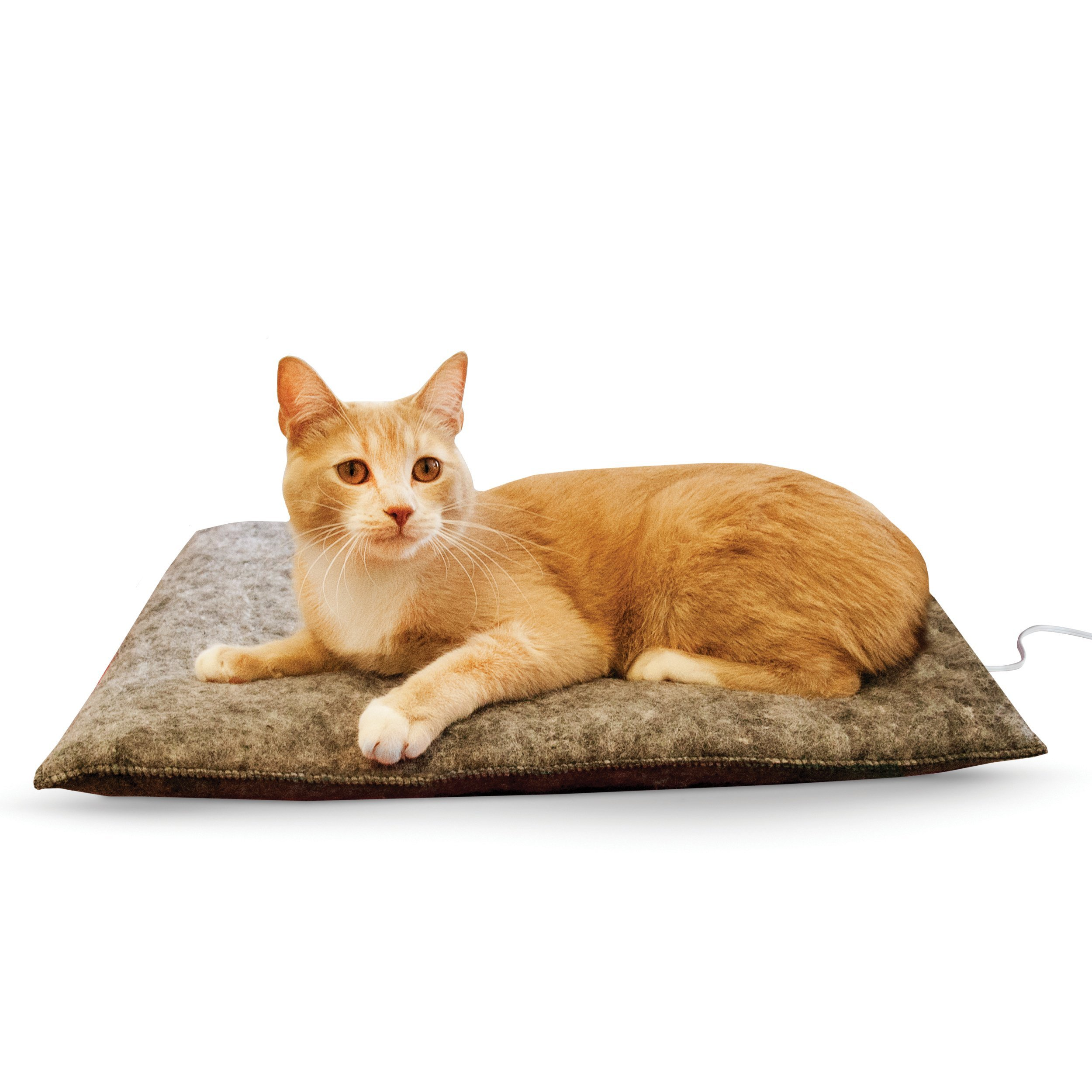 K&H Pet Products Amazin' Thermo-Kitty Pad Gray 15'' x 20'' 4W (Heated) Traps Cat Hair and Dander!