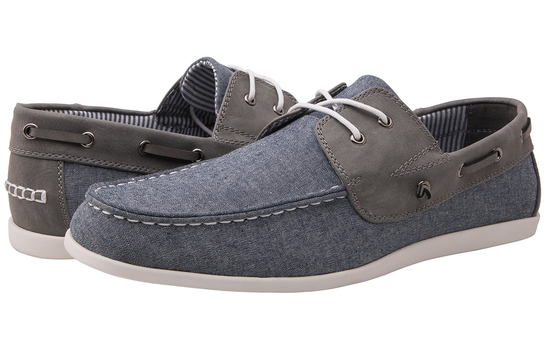 Globalwin 1810 Mens Blue Grey Casual Boat Shoes 10.5 M