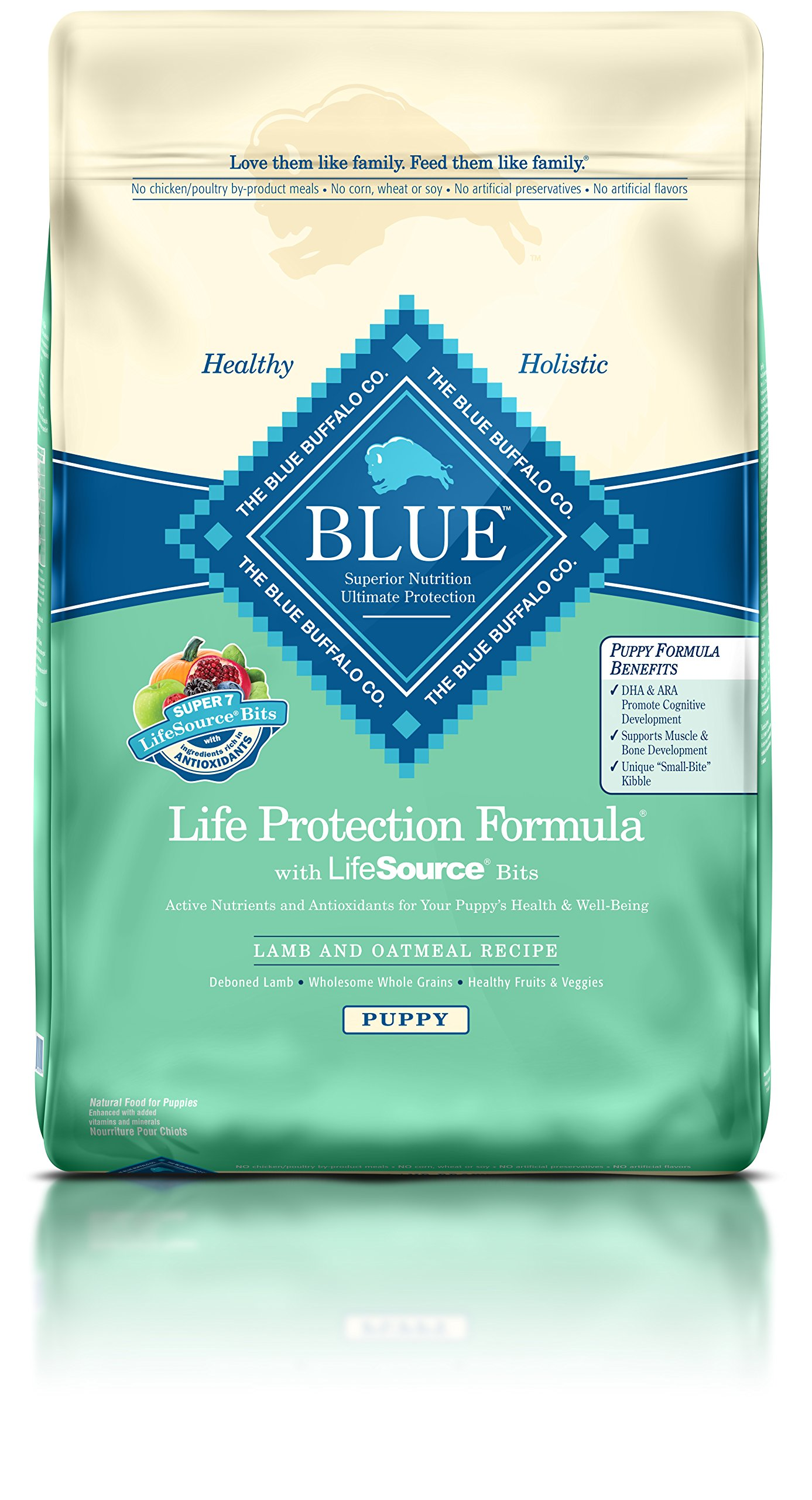 Blue Buffalo Life Protection Dry Puppy Food Lamb & Oatmeal Recipe 30 LB