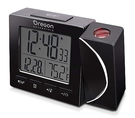 Oregon Scientific RM-512-P Reloj Proyector Radio Controlado, Negro ...