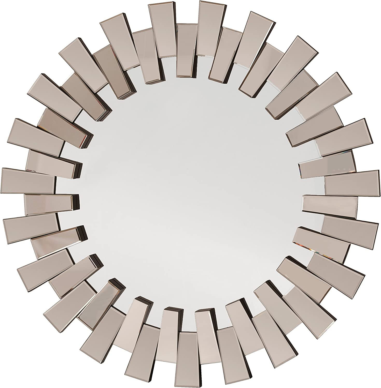 OSP Designs Apollo Glass Round Wall Decor, Mirror