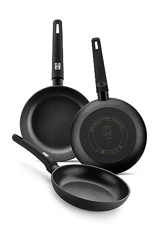 BRA Silver- Sartén 28 cm aluminio forjado antiadherente apta para todo tipo de cocinas, incluso inducción: Amazon.es: Hogar