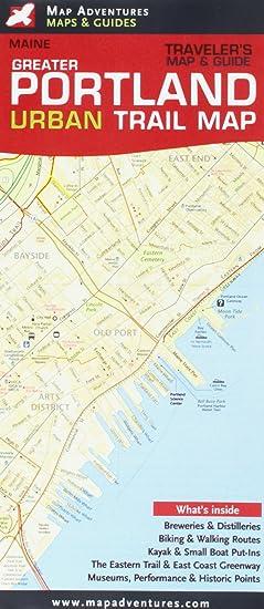 Amazon com: Greater Portland, ME Urban Trail Map & Guide