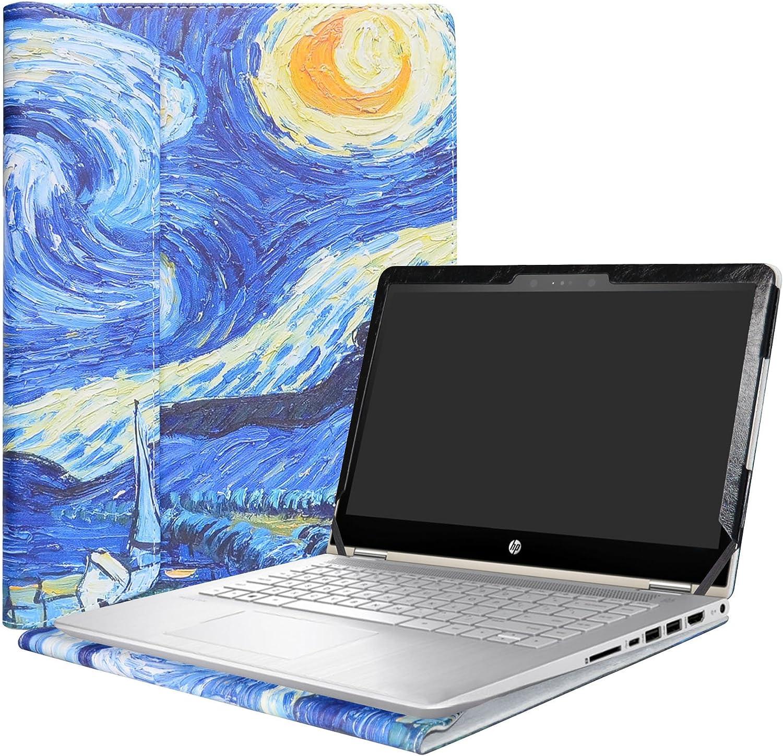 """Alapmk Protective Case Cover for 14"""" HP Pavilion x360 14 14-baXXX 14m-baXXX (14m-ba000 to 14m-ba999,Such as 14M-BA114DX,Not fit Pavilion x360 14 14-cdXXX & Pavilion 14 Series) Laptop,Starry Night"""