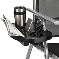 Stuhltisch schwarz Kunststoff Seitentisch für Faltstühle Seitenablage Camping