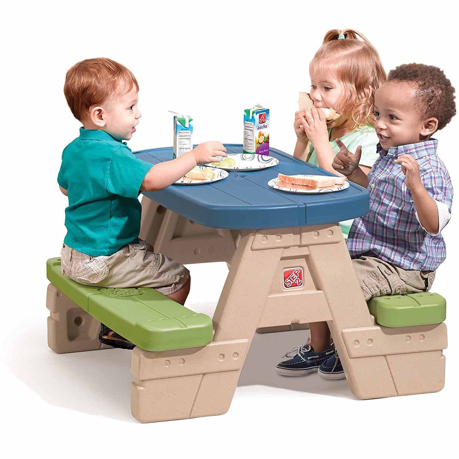 Amazon.com: Step2 Sit and Play Kids Picnic Table With Umbrella ...