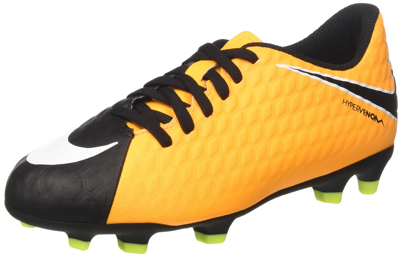 brand new a767f da9c7 Amazon.com  Nike Junior Hypervenom Phade III FG Soccer Cleat