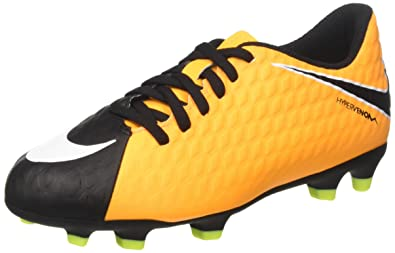 a3a9ceae455 Nike Kids Jr. Hypervenom Phade III (FG) Firm Ground Soccer Cleat Laser  Orange