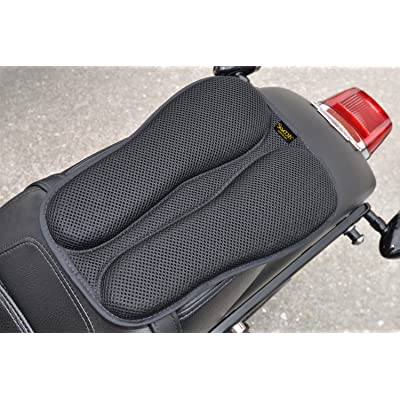 SKWOOSH Passenger Pillion IV Motorcycle Gel Rear Seat Pad with Breathable Cooling Mesh Fabric | Made in USA: Automotive