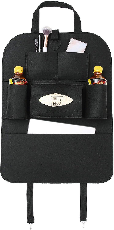 "Runsabay Car Backseat Organizer Kick Mats Seat Back Protectors with 10/"" iPad Tablet Holder and 5 Multi packets Deep Gery"
