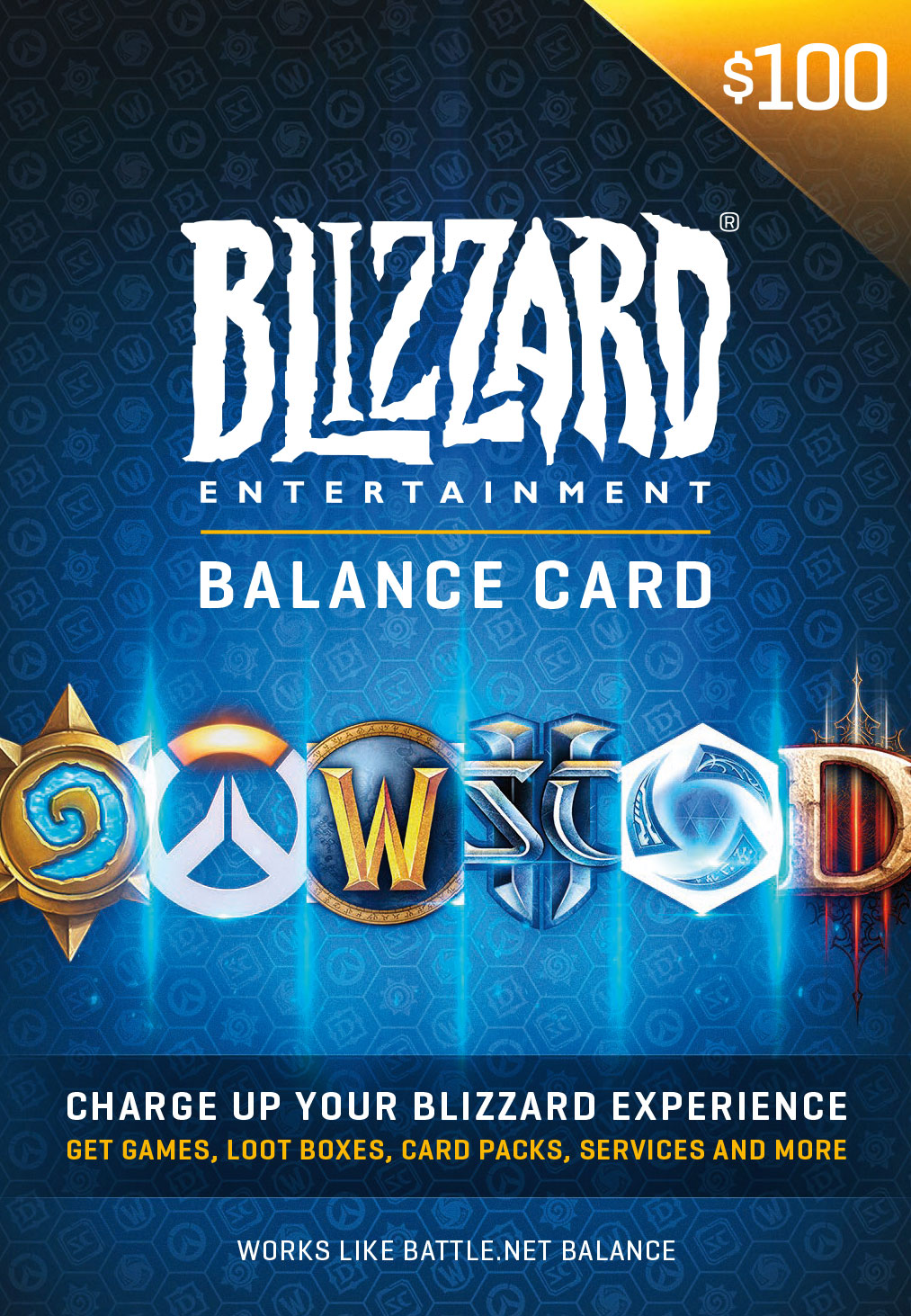 $100 Battle.net Store Gift Card Balance [Online Game Code] by Blizzard Entertainment