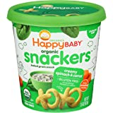 HAPPY BABY Organic Baked Creamy Spinach & Carrot Snacker Cup, 1.5 OZ